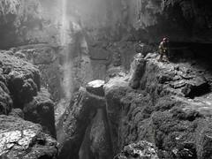 Alum pot - ( Allum ) (TomHughesTom) Tags: underground traverse caves cave caving selectivecolour potholing lupc allumpot