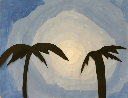 Skylar's palm tree silhouette