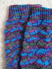 monkey socks, closeup