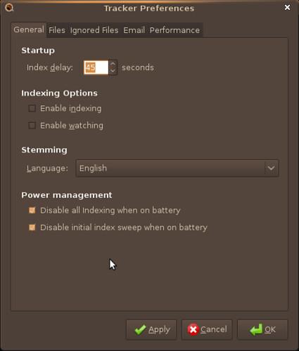 Screenshot-Tracker Preferences
