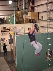 Nick Scaling the Rope at Rockin N Jammin