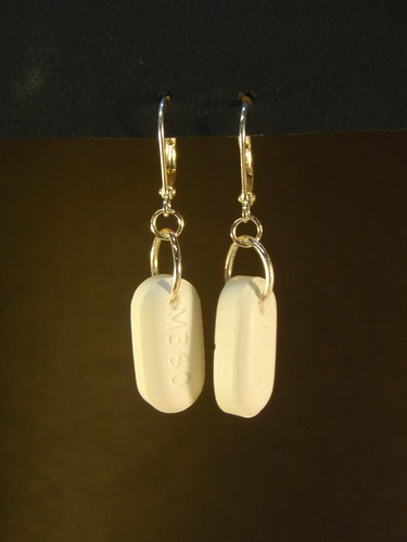 Vicodin Earrings