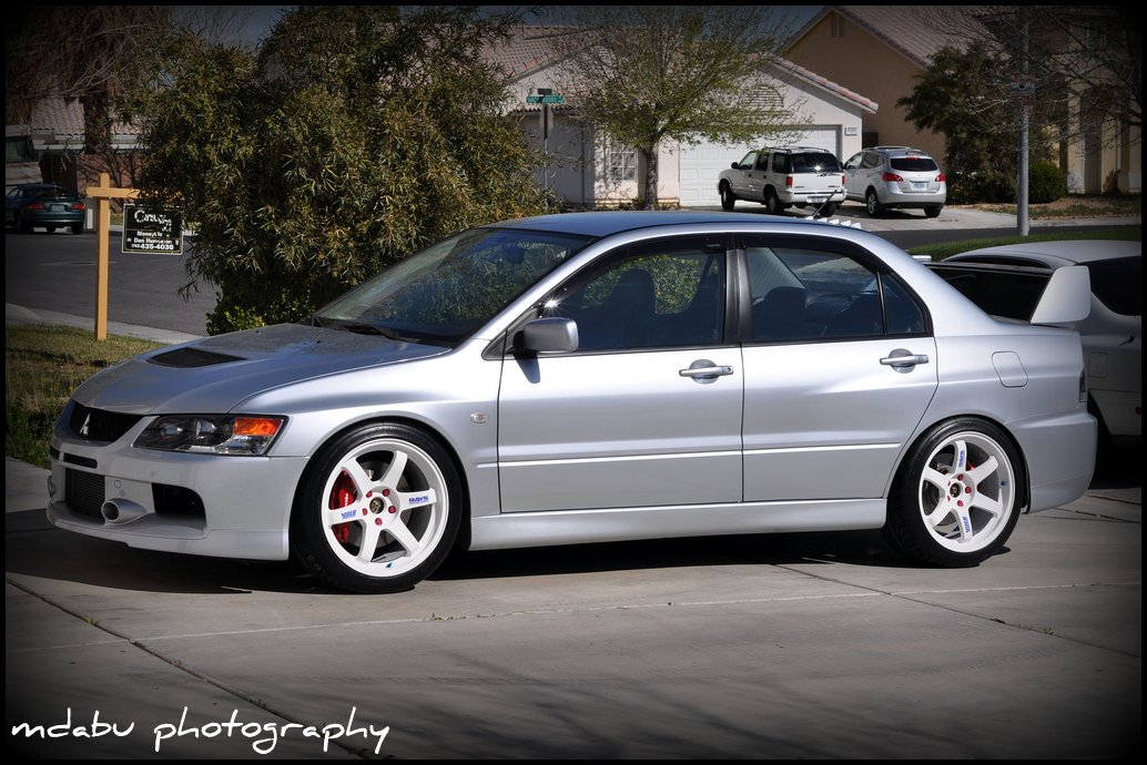 Lancer Evolution Ix White Another Silver 9 with ...