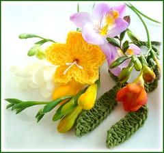 Pequenas coisas (Lidia Luz) Tags: amigos flower necklace handmade crochet flor lariat colar freesia cordo croch frsia lidialuz grupoquintaflower