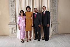 U.S. President Barack Obama and First Lady Michelle Obama With World Leaders at the Metropolitan Museum in New York (http://www.state.gov) Tags: usa ny newyork president whitehouse michelle unitednations obama palau firstlady generalassembly barackobama unga michelleobama toribiong