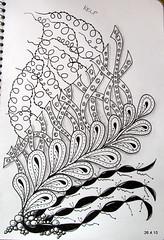 KELP (Jo in NZ) Tags: blackandwhite drawing doodle zentangle nzjo zendoodle