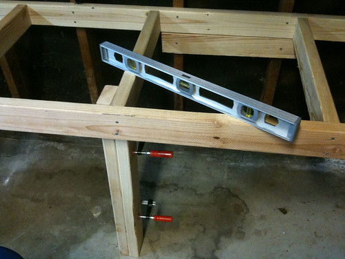 Attaching and leveling the frame