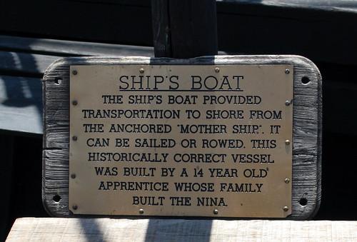 Ship's Boat Info