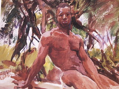 Figure in Trees (Mamluke) Tags: trees male art watercolor paper artwork arte florida kunst uomo arbres figure mens tropical watercolour mann papel papier carta hombre sargent johnsingersargent homme 1917 男性 mamluke 芸術 figureintreesflorida