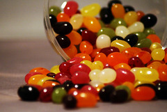 World's Most Famous Jelly Bean (Michelle in Ireland) Tags: red fab orange white black green colors yellow yummy colours candy sweet moo sweets jellybeans spilled flavors flavours supershot jellybellybeans challengeyouwinner betterthangood