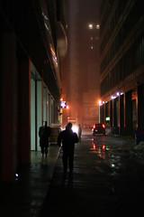 Dark side of the same story (Alvaro's Pix) Tags: people usa chicago fog dark alley darkness bladerunner il explore spoky