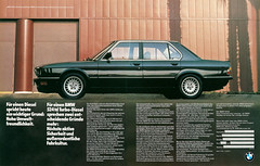 Reklame BMW 524td E28 (1985) (jens.lilienthal) Tags: auto old classic cars car vintage advertising reclame ad voiture advertisement advert older bmw oldtimer autos werbung reklame voitures anzeige youngtimer 524 e28 524td