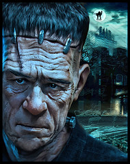 TOMMY LEE JONES (The PIX-JOCKEY (no comment, just views)) Tags: cinema celebrity art monster night photoshop movie star joke contest fake humour frankenstein hollywood vip horror photomontage actor worth1000 fotomontaggi tommyleejones robertorizzato altrafotografia pixjockey