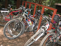 Bike rack on the trail