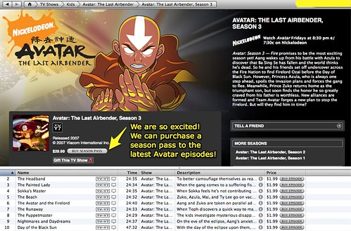 iTunes - Season pass of Avatar available!