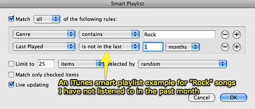 iTunes Smart Playlist example