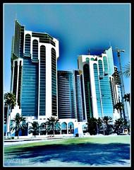 Doha (qatari star) Tags: sky art star gulf towers arab doha qatar        qatari