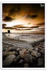 Cloudy Sunset [Sepia] (Hussain Shah.) Tags: sunset beach sepia d50 nikon cloudy sigma kuwait 1020mm kuwaiti shuwaikh shah hussain muwali