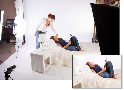 Behind the Scenes - White Bedroom Shoot