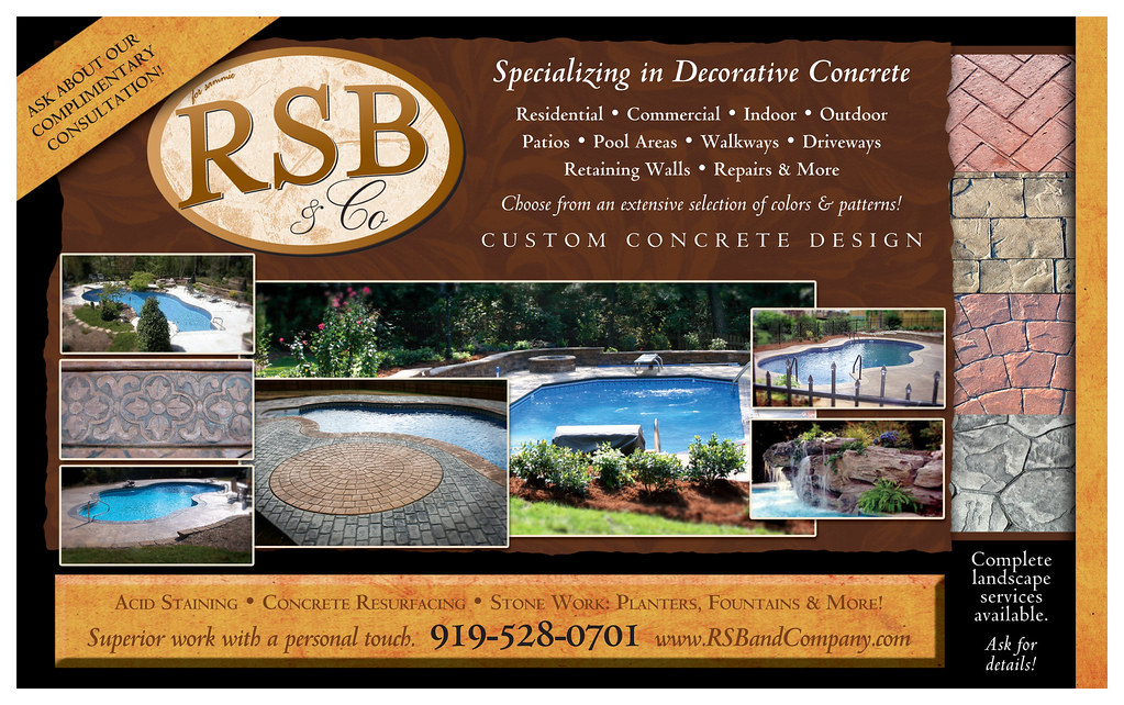 Coming soon in September 2008 over 6,000 S.F. showroom for stamped concrete, and home decor.  for the inside and outside of your home.