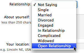Different relationship statuses