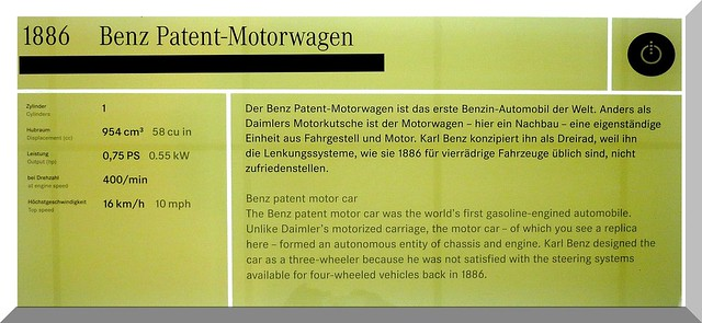 1886 Benz Patent-Motorwagen - the world´s first gasoline engined automobil