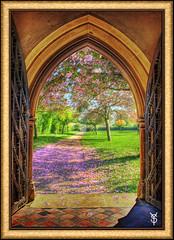 Garden of Eden (Wondertubs) Tags: pink church fairytale arch blossom creation montage eden aplusphoto yesitstwoseperatephotoscombined