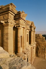 View of the top of Ad-Deir (the monastery), Petra, Jordan 2004 (iancowe) Tags: sunset urn top petra jordan monastery addeir