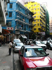 Hong Kong () - Wan Chai ()  Stone Nullah Lane ()  Blue House (Hansen's Hikes) Tags: urban house trekking island hongkong michael hiking sightseeing hong kong  excursions hansen tramping bluehouse wanchai udflugter  byture michaelhansen stonenullahlane  hansenshikes vandreture cykelture