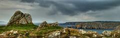 Celtic Shores (davidpichevin) Tags: ocean sea sky panorama seascape france landscape brittany rocks bretagne cliffs celtic paysage hdr finistere pointeduvan