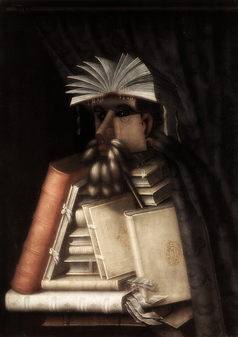 ARCIMBOLDO, Giuseppe The Librarian c.1566