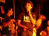 Abhijit Sawant performing at the MG Road show, wearing his HIV POSITIVE T-shirt