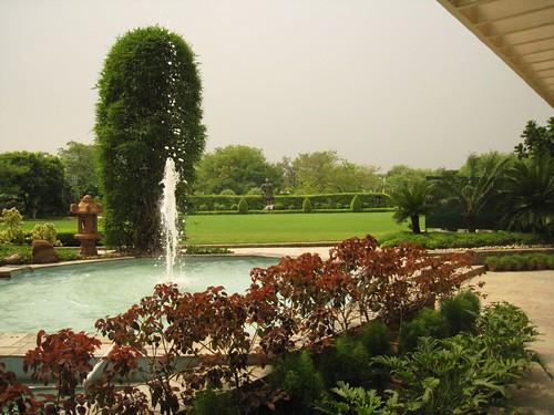 The hotel's garden