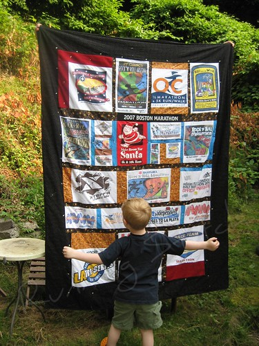 Thunderclap's quilt to scale