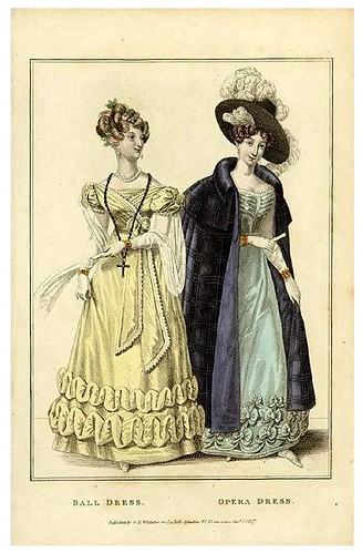 Ball and opera dresses, 1827