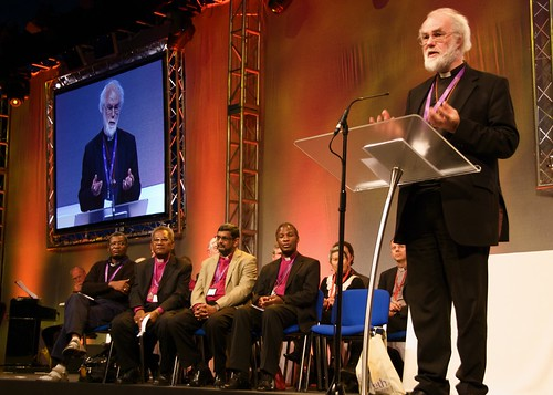 Archbishop of Canterbury Rowan Williams speaks during the opening of the Lambeth Conference. ACNS/Gunn
