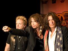Aerosmith at their Guitar Hero Press Release
