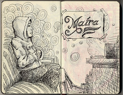 Mara (Ico Oliveira) Tags: moleskine illustration sister sketchbook skine