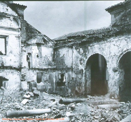 Iglesia de San Lorenzo durante la Guerra Civil, Toledo, España