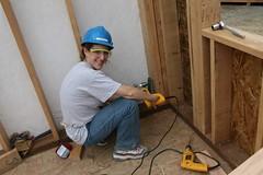 Yas installing an earthquake brace (Bendini) Tags: alaska anchorage habitatforhumanity globalvillage