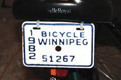 Winnipeg Bike Plate
