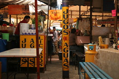 "Jugos & Aguas (view from 5'2"") Tags: mexico stand market juice stall waters jugos aguas"