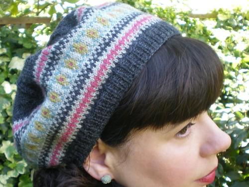 Fair Isle Beret Knitting Pattern : Fair Isle Beret Free Knitting Pattern from the Hats Free Knitting Patterns Ca...