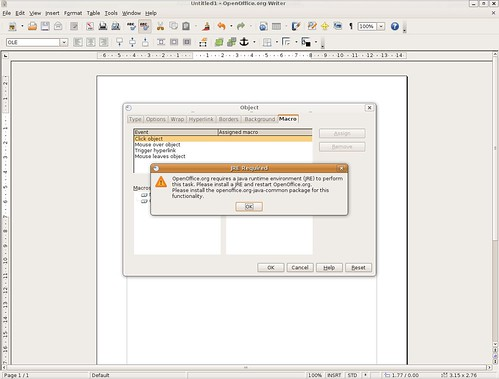 open office writer. chart in OpenOffice Writer
