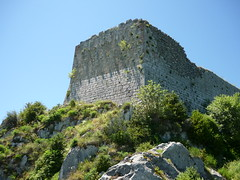 Looking up (majorarcana) Tags: france castle languedoc cathar montsegur languedocroussilon marseillette