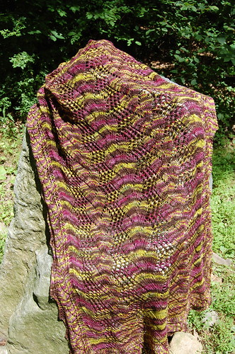 Shawl on a Rock
