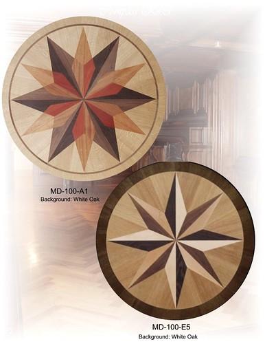 hardwood floor inlays medallions
