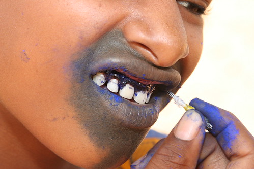 Fulani mouth tattoo