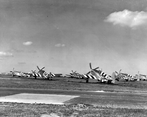 Warbird picture - P-51 Mustangs, 361st Fighter Group