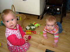 frnkur cousins (hildur_bjorg) Tags: toys play cousins elin indra kusiner krypa frnkur leker leika leikfng leksaker skra